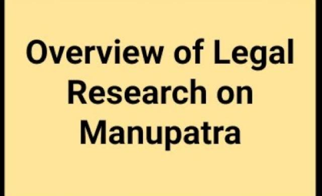 Webinar on Overview of Legal Research on Manupatra
